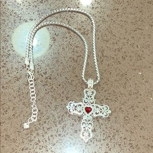 Brighton's silver cross necklace